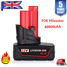 6.0AH Battery For Milwaukee M12 12V Hot Lithium-Ion 48-11-2440 48-11-2411 M12B