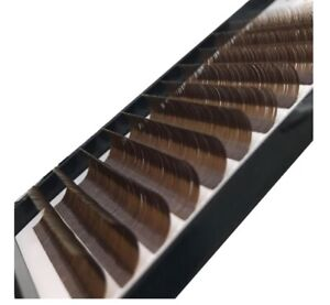 Brown Colour Lashes 0.07 D curl Mix 8-14mm russian volume eyelash extensions