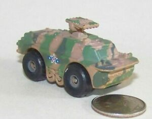 Small  Micro Machine Plastic Russian BRDM-2 with Missiles in Desert Camouflage