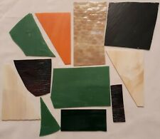 Stained Glass Small Medium Pieces Scrap Mixed Lot Mosaics Art Crafts #17