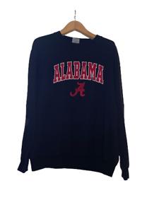 Stadium Athletics Mens Round Neck Alabama Graphic Print Blue Sweatshirt Size XXL