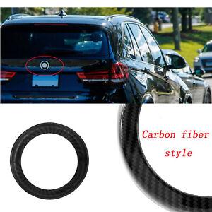 Black Carbon Fiber  Rear Badge Ring Cover Boot For BMW X5 X6 X5M F15 F16 F85 F86