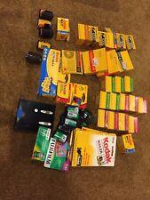 EXPIRED LOT 40 ROLLS UNUSED KODAK/Fuji 35mm Film Kodachrome/Tri-X/Plus-X/Super 8