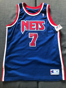 NWT 100% Authentic Kenny Anderson New Jersey Nets Autographed Champion Jersey 48
