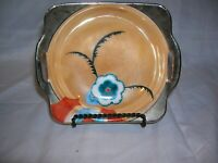 Vintage Noritake Hand Painted Lusterware Handled Trinket Bowl