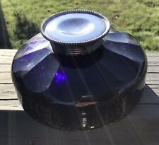 ABSOLUTELY GORGEOUS ANTIQUE SILVER AND COBALT GLASS INKWELL