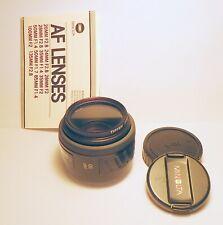 Minolta AF lens 50mm f-1.7(22) Sony A-Mount w/Tiffn HAZE 1 filter Mint