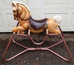 WONDER HORSE 1950's-60's Spring Rocking Bouncing Children's Horse Blow Mold