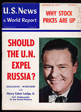 US News & World Report Henry Cabot Lodge Jr on Russia & UN November 26 1954