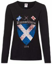 Bannockburn Women Long Sleeve T-Shirt Robert 1314 Flag Scotland the Bruce Battle