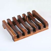 Natural Wood Creative Soap Dish Holder Non-slip Soap Box Bathroom Accessories