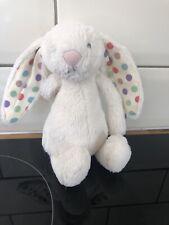 JellyCat pequeño punto blanco despego Bunny rabbispotty Nuevo sin etiquetas (raro)