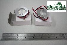 2 x 45mm Campervan Conversion 12v Bright LED Spot Lights, Motorhome lights 0.8w