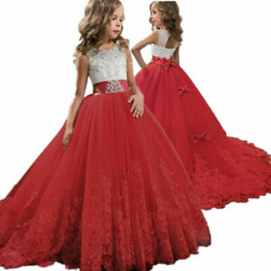 Flower Girl Princess Girls Birthday Party Pageant Dresses Weeding Ball Gown