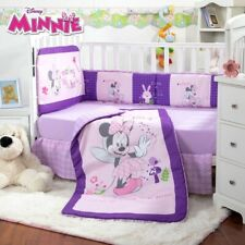 Minnie Mouse Baby Girls Crib Bedding Set Nursery 6 Pcs For Baby Shower Gift