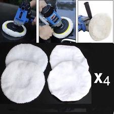 4Pcs Polishing Bonnet Buffer Polishing Pad For 9inch & 10inch Car Polisher White