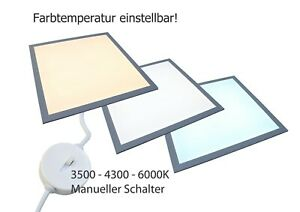 LED Panel 62x62cm Rasterdecke 32W, 3840 Lumen, Lichtfarbe Dimmbar 3500-6000K