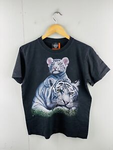 Rock Eagle Men's Vintage Tiger Short Sleeve Crew Neck T Shirt Size M Black