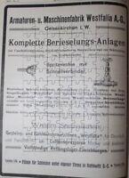 Westfalia Gelsenkirchen Berieselungs-Anlagen Große Werbeanzeige von 1908 Reklame