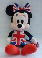 Posh Paws Minnie Mouse Union Jack Vestito Con Fiocco Ginger Spice Girls Peluche Giocattolo morbido