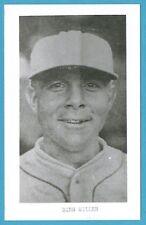 Bing Miller Vintage Baseball Postcard With Name on Front GRN