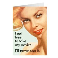 """Retro Humour """"Take My Advice I'll Never Use It"""" Greetings Card Birthday Gift"""