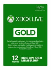 Microsoft 52M-00339 Xbox Live Subscription 12 Month Gold Membership Card