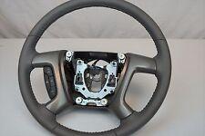 NEW OEM 08-13 Silverado Tahoe Yukon Sierra Dark Titanium Leather Steering Wheel