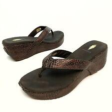 Women's Volatile Snake Print Platform Wedge Thong Sandals Women's US Shoe Sz 10