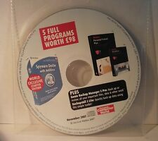 PCW Cover Disc November 2007 5 Dated Programs - PC CD-ROM