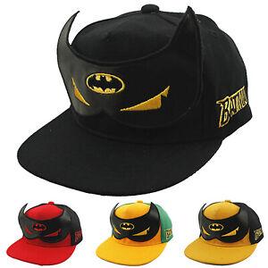 Batman Kids Snapback Baseball Cap Hat Children Boys Hip-hop Adjustable Sun Hats