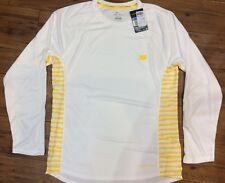 Mens Nike Livestrong Miler Long Sleeve Shirt Running Cycling Top White UK Medium