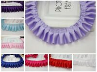 5 Meters Ruffle Pleated Satin Ribbon Trim 40mm Sewing Wedding Craft Colour Choic