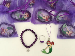 Ariel Pre Filled Party Bags,Charm/Ring,Princess/Disney/The Little Mermaid/Filler