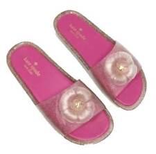 KATE SPADE New York S030045 SPLASH Floral Pink GLITTER Jelly Slipper Sandal 9B