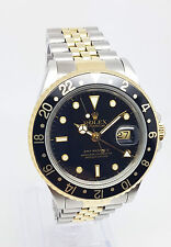 Rolex Brushed Solid Gold Case Wristwatches