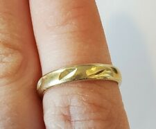 Sz 2.5 to 4 Etched Stamped 14k 14K Yellow Gold Toe Ring Solid band