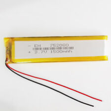 1500mAh 3.7V LiPo Li-Polymer Rechargeable Battery For mobile phone GPS 752080