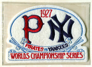 1927 World Series NEW YORK YANKEES / PITTSBURGH PIRATES Willabee Ward PATCH ONLY