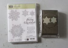 Stampin' Up! Flurry Of Wishes Photopolymer Stamp Set + Snow Flurry Punch NEW