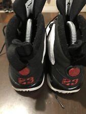 Nike Air Jordan IX 9 Retro White Black Red Bred Sneakers Size 5y