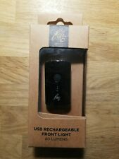 FWE USB Rechargeable Front Bicycle Light 80 Lumens