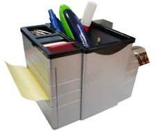 Office desk box with tape, post it and Flags for Feather sujetapapel