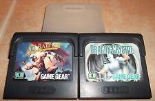 "SEGA Game Gear LOT (2) AX BATTLER ""Legend of Golden Axe"" & ""Dragon Crystal"" 1991"