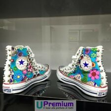 Converse All Star Mexican Skull Fabric Studded White [Product Persona