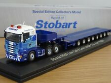 ATLAS OXFORD EDDIE STOBART RAIL SCANIA R LOW LOADER TRUCK MODEL JV4102 1:76
