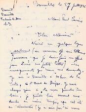 BOURVIL - Lettre autographe signée sur son séjour en Normandie