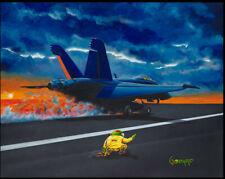 "Michael Godard ""Navy Runway Model"" (G) - Giclee on Canvas"
