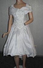NEU Brautkleid Gr.36  vorne kurz/hinten lang+Handschuhe+KopfschmuckTasche