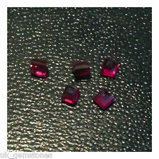 Purplish Pink Ruby Square Shape 0.10ct - VSI. Single Stone